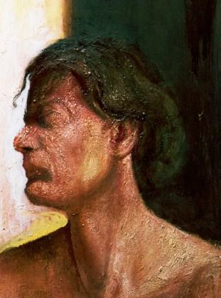 femme de profil peinture