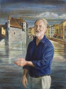 peinture homme portrait Le Vesinet.
