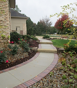 Landscape Stairs In The Greater Canton Area | Front Yard Stairs Design | Entry | Uphill | Step | Residential | Main Door Stair