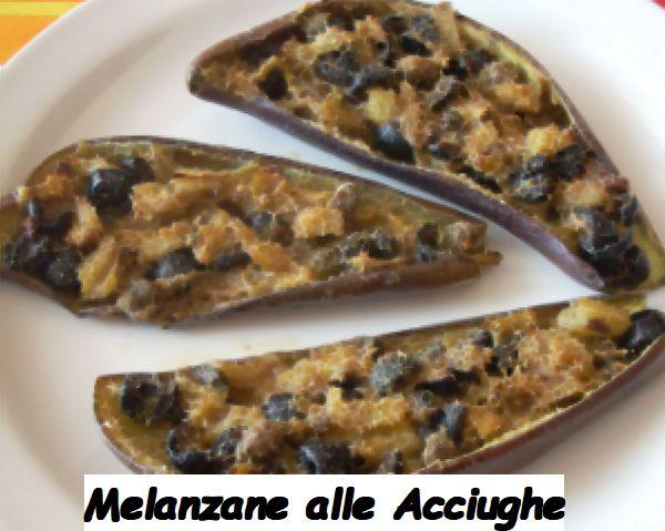 Ricetta di Cucina Calabrese Melanzane alle Acciughe con Ingredienti e Preparazione