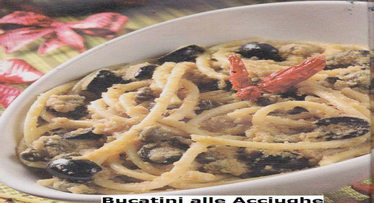 Ricetta di Cucina Bucatini alle acciughe