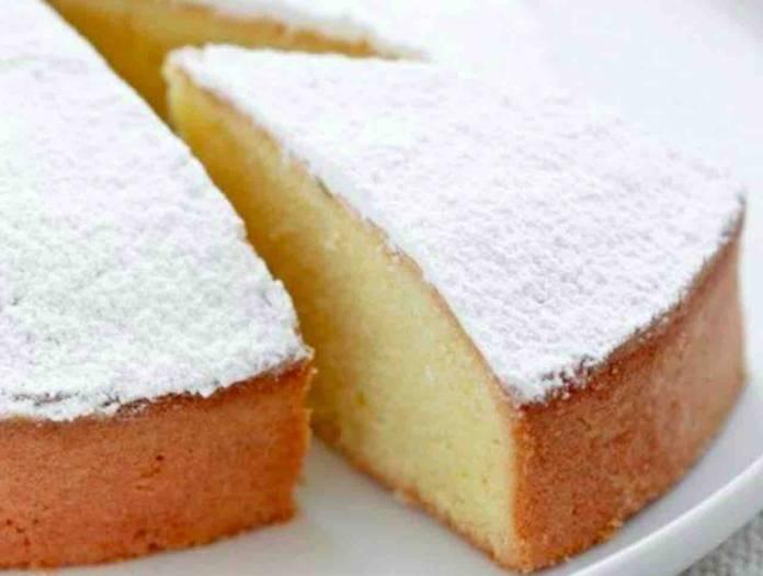torta al latte e vaniglia
