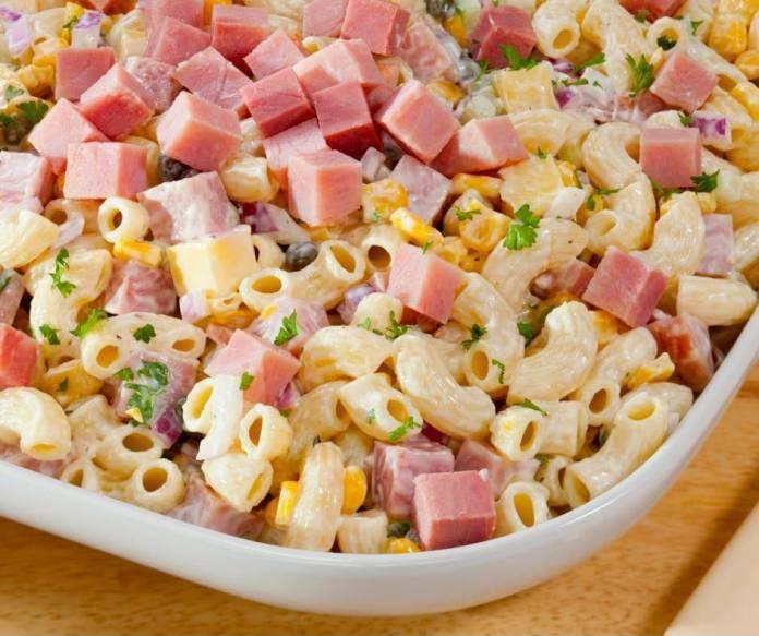insalata di pasta con prosciutto cotto