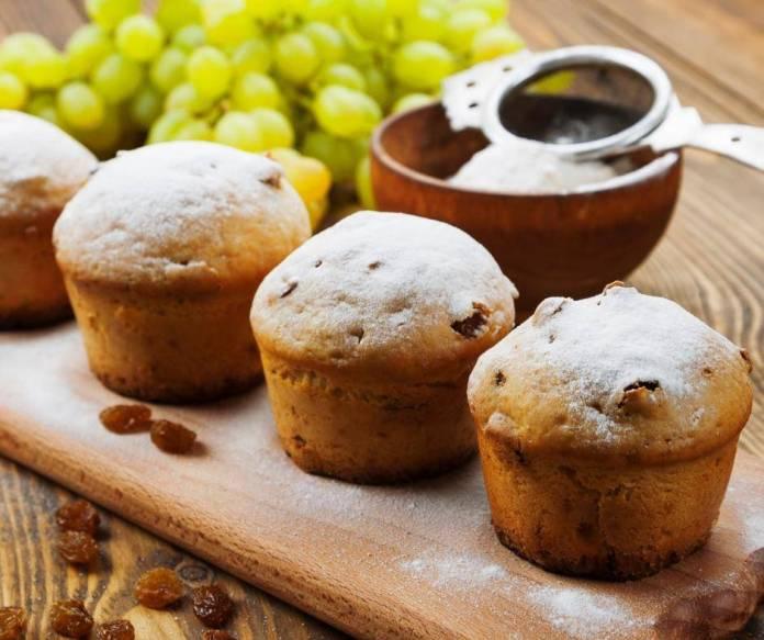 Muffin con Uva Passa