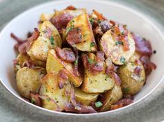 patate saporite con la pancetta