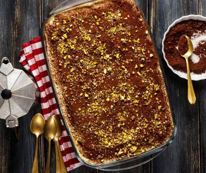 tiramisù al pistacchio e nutella