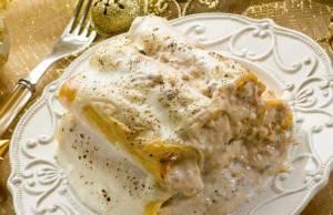 Pranzo di Natale, cannelloni al gorgonzola
