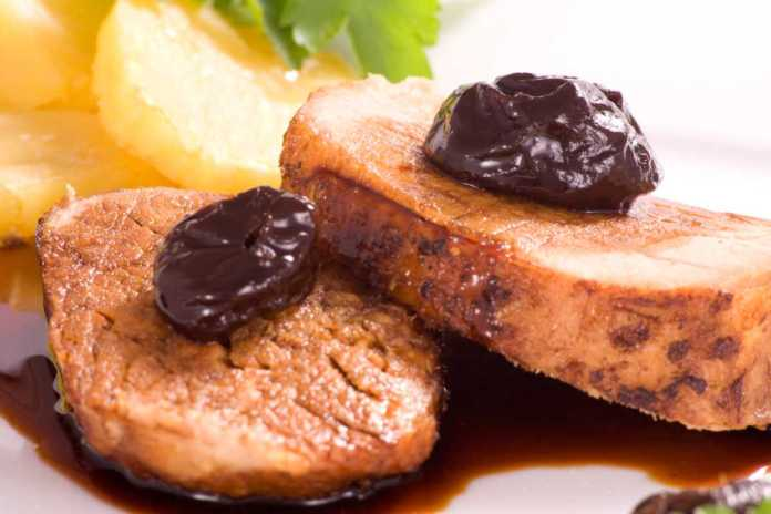 Filetto di maiale alle prugne