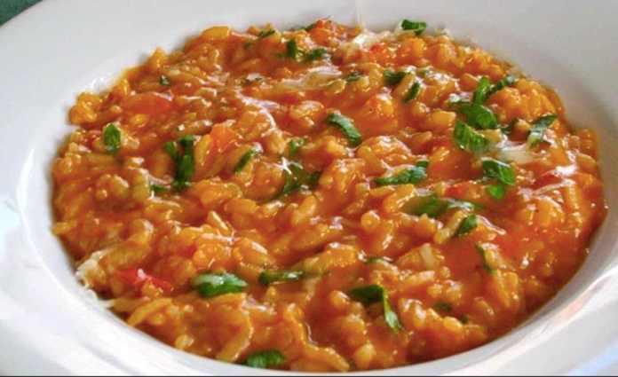 Risotto pomodoro e mozzarella