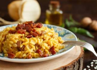 Risotto con crema di Zucca e Pancetta - ricettasprint.it