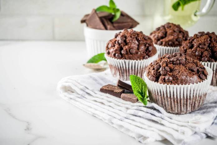 Muffin double Chocolate e Menta - Ricettasprint.it