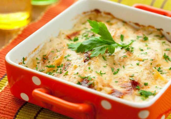 Patate e verza al forno