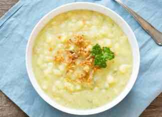 Zuppa di patate cavolo e fagioli