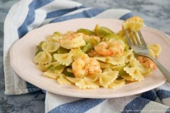 Pasta zucchine e gamberi bimby