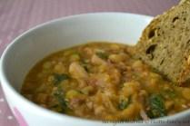 Zuppa di polpo, patate e ceci bimby 3