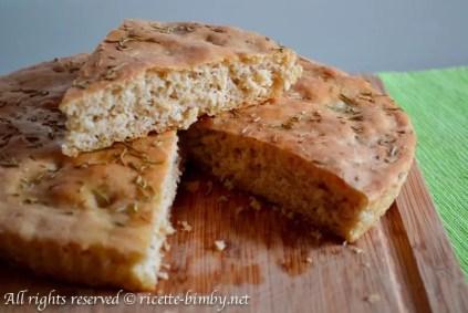 Focaccia con farina ai cereali bimby 1