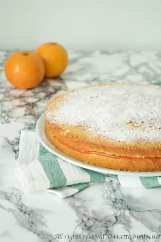 Torta con crema all'arancia bimby