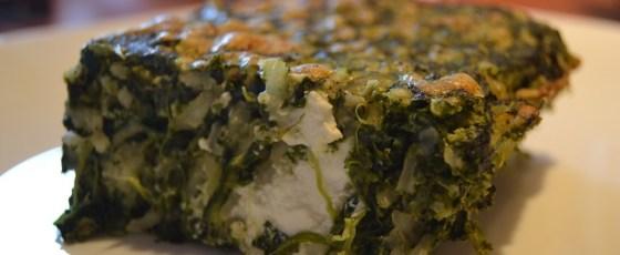 Sformato di riso con spinaci e ricotta