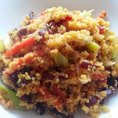 Quinoa con verdure saltate