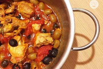 pollo pomodoro e olive
