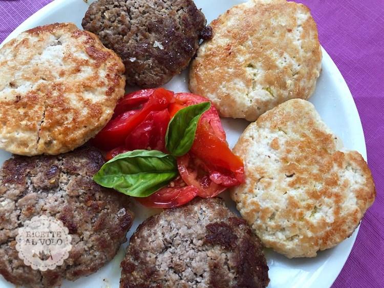 hamburger di pollo e manzo