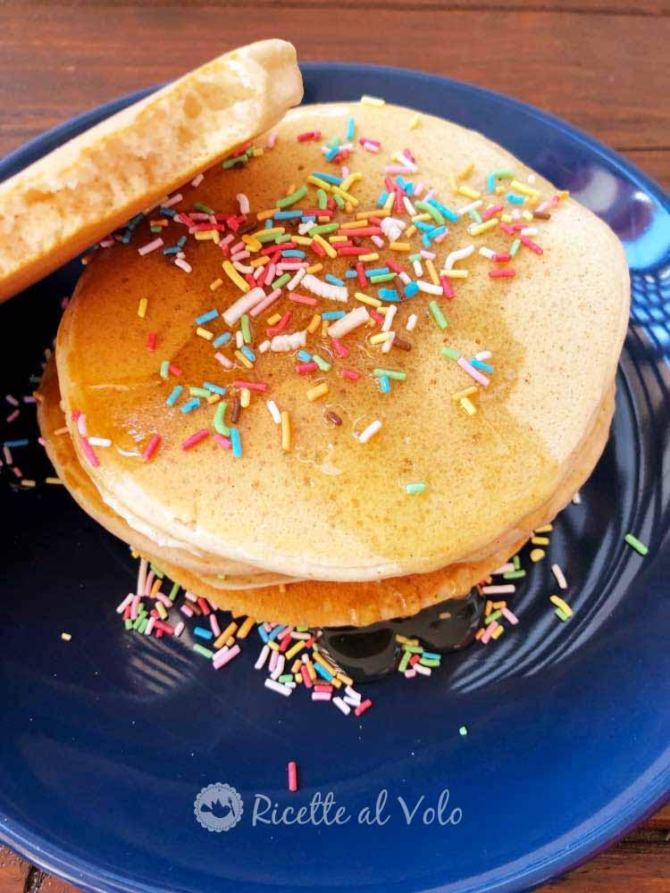 Pancake con proteine in polvere