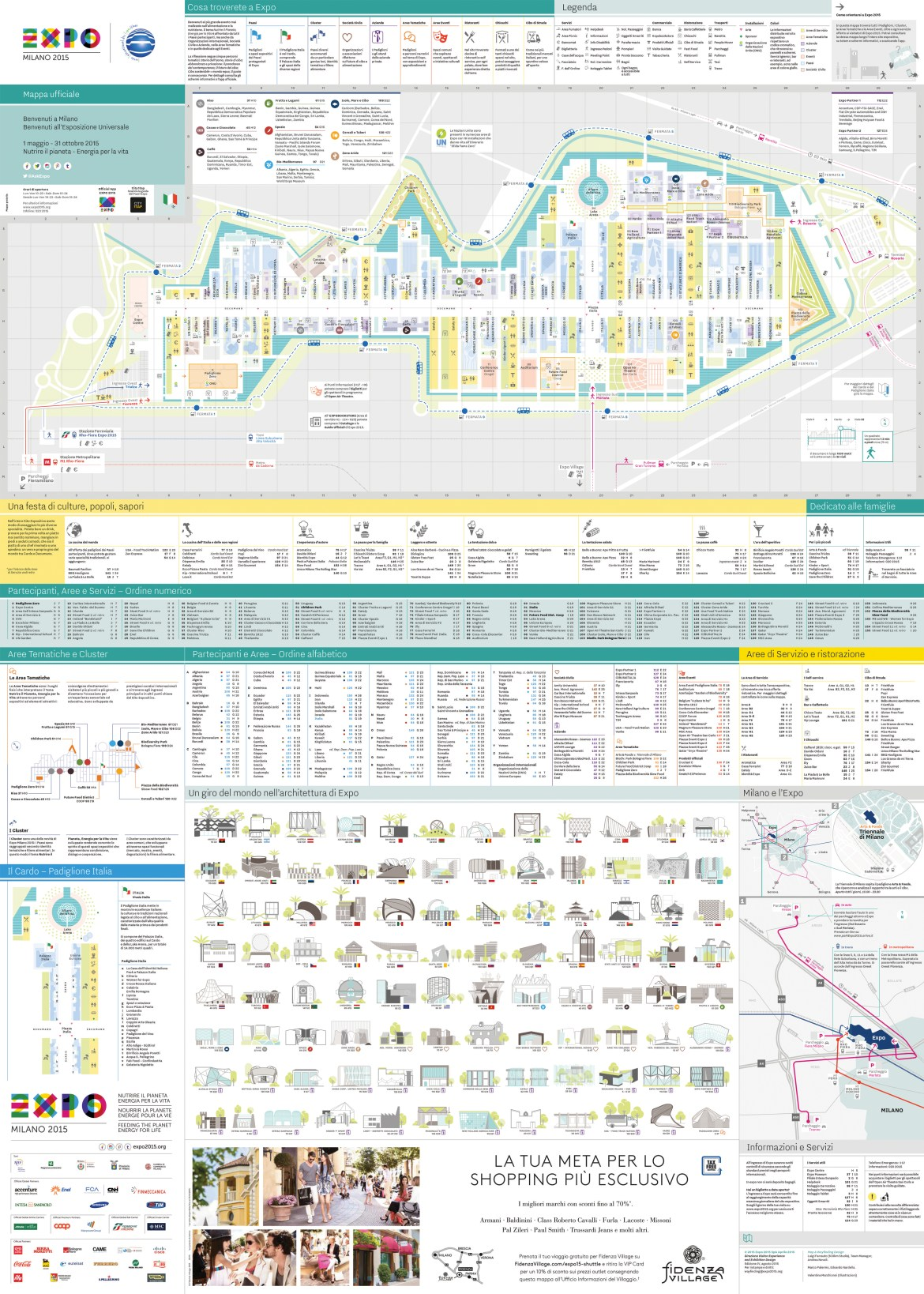 Mappa Ufficiale Expo Padiglioni