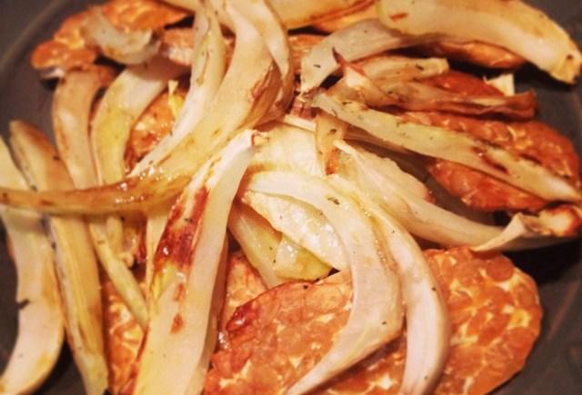 tempeh alla piastra con finocchi fennel grilled