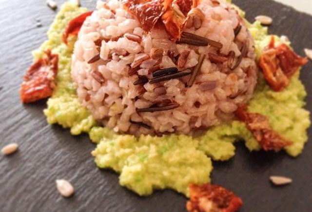 riso avocado pomodori secchi vegan rice
