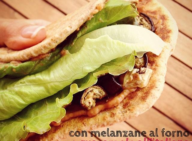piadina integrale melanzane guacamole wrap vegan