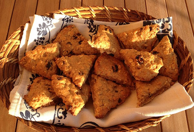 vegan scones avena mirtilli oat blueberry