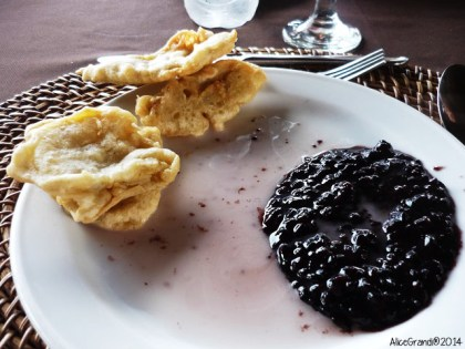 black rice pudding budino riso nero