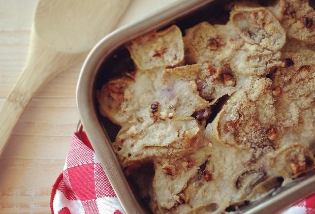 pasta al forno vegan radicchio tofu noci vegan italian fresh pasta bake