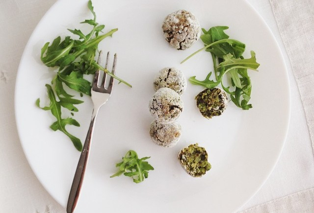 polpette vegan quinoa piselli pea fritters