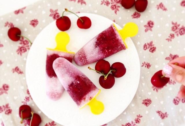 ghiaccioli cocco ciliegia coconut cherry popsicles