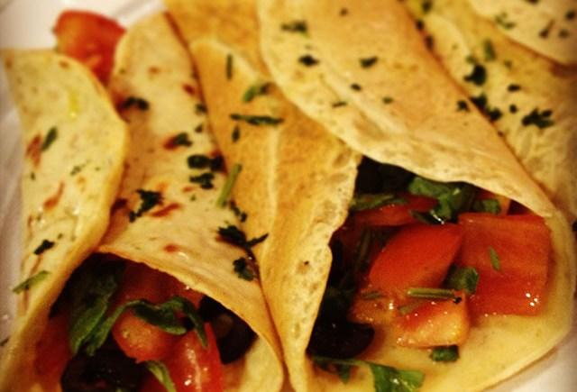 crepes vegan ceci verdure chickpea