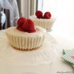 Mini cheesecake gelato ai lamponi | No bake mini raspberry cheesecakes