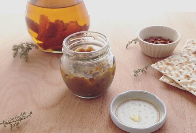 crema di melanzane piccante conserva hot eggplant vegan dip