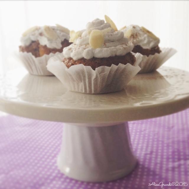 cupcakes vegan carote mandorle cocco carrot almond coconut
