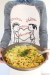 Tagliatelle di farro con verza ceci chickpea cabbage pasta