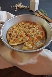 Farinata di ceci farifrittata alla zucca Pumpkin chickpea vegan frittata