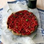 Tarte tatin al tofu e pomodorini confit | Tomato tarte tatin {vegan recipe}