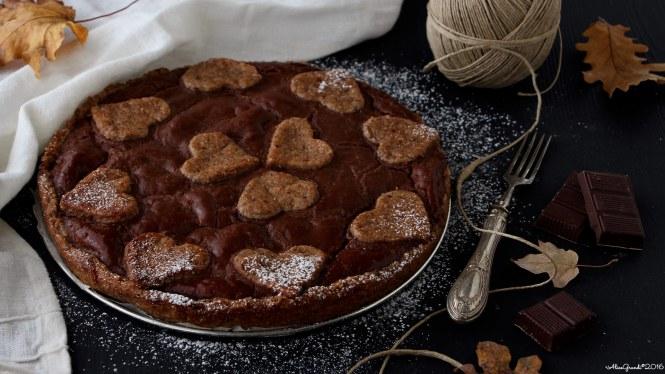 crostata-vegana-castagne-cioccolato-chocolate-chestnut-vegan-tart