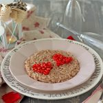 Risotto alla melagrana con tahin | Pomegranate risotto {vegan recipe}