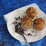 Muffin vegani alle fave di cacao | Healthy cacao nibs muffins