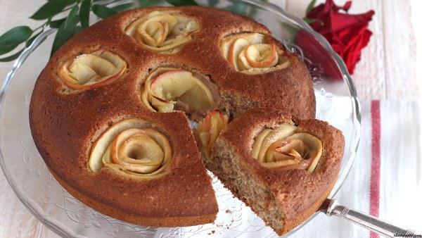 torta-di-mele-allacqua-senza-uova-vegana-integrale