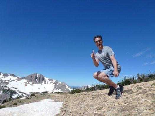 Jumping 10450 feet. Grand Teton