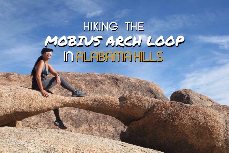 Hiking in Mobius Arch Loop