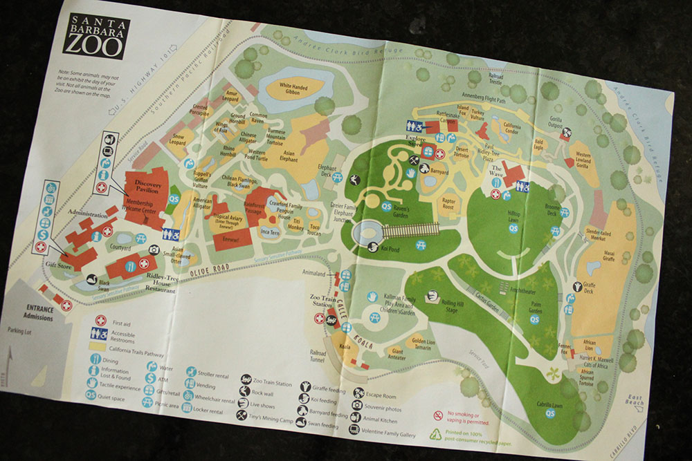 STA BARBARA ZOO MAP