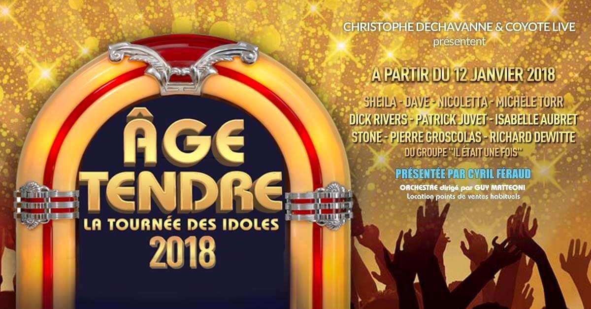 Age tendre date la tournée 2018